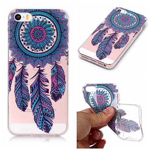 Custodia iPhone 5 5S SE , LH Blu Chimica Del Vento TPU Trasparente Silicone Cristallo Morbido Case Cover Custodie per Apple iPhone 5 5S SE