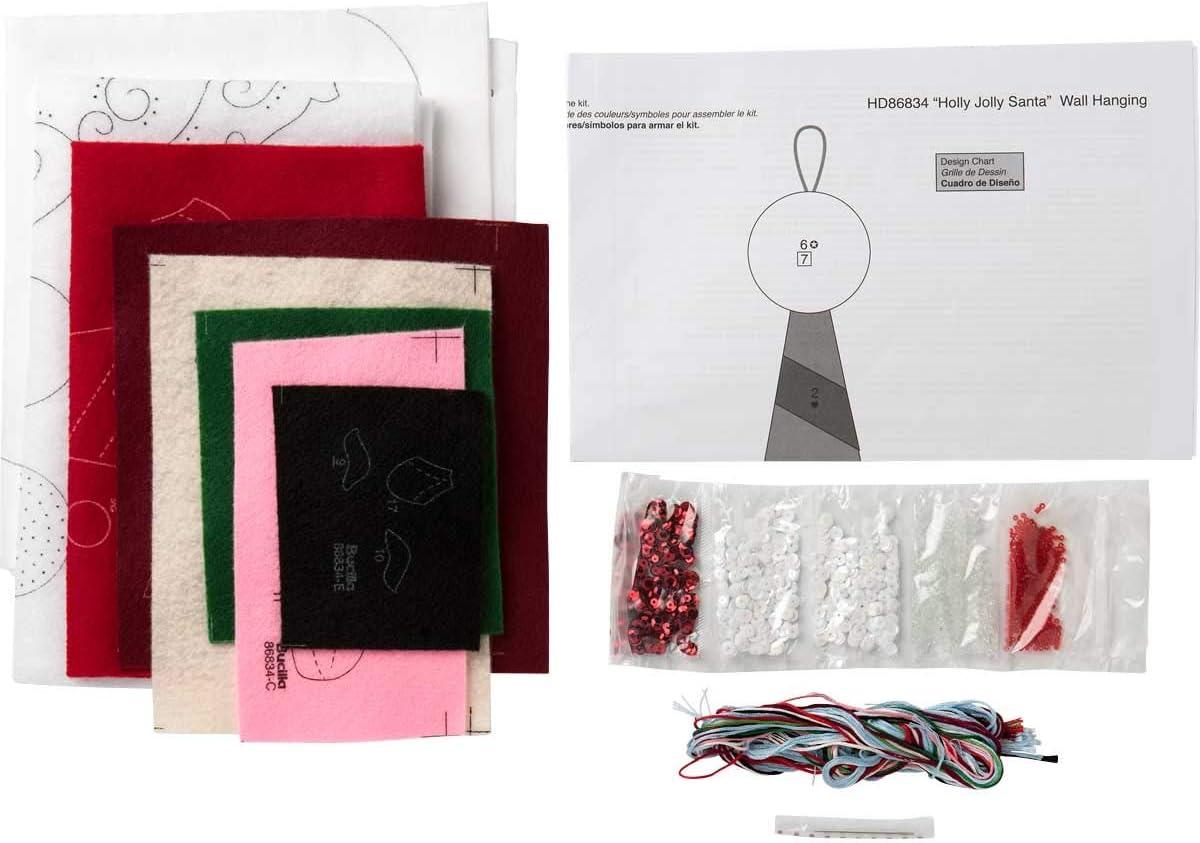 Bucilla 86834 Holly Jolly Santa Wallhanging Kit