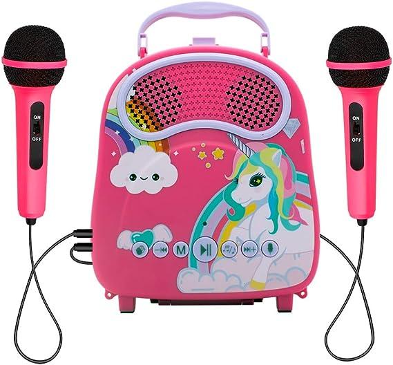 Amazon.com: N\A Kids Karaoke Machine wirh 2 Microphones Karaoke Music Machine with Toy Microphone for Singing Karaoke Speaker with Voice Changer for Girls Toddlers Bluetooth Children's Karaoke Toys for Christmas: Toys & Games