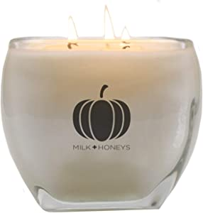 Pumpkin Chai Scented Candle - 15oz, 3 Wicks, 100% Soy