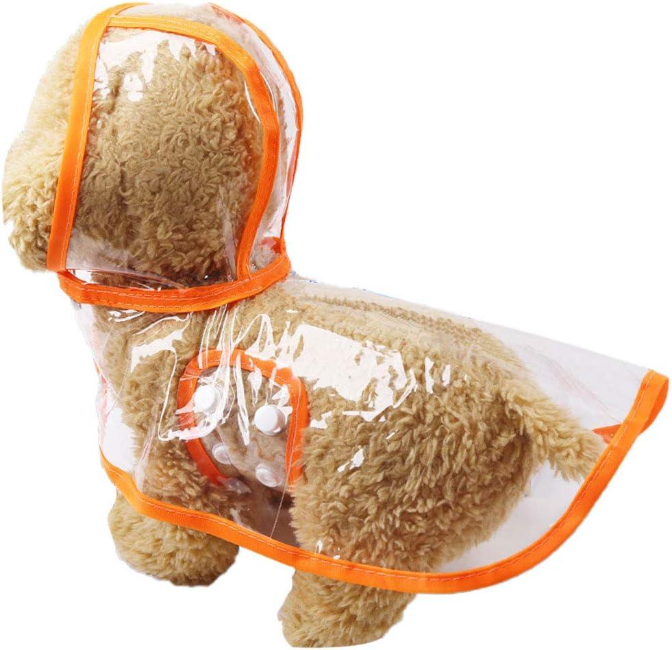 Poncho Impermeable y Cortavientos con Capucha para Perros Peque/ños y Medianos Impermeable de Tipo Poncho con Capucha para Perros EONAZE Chubasquero Perro Peque/ño XXL