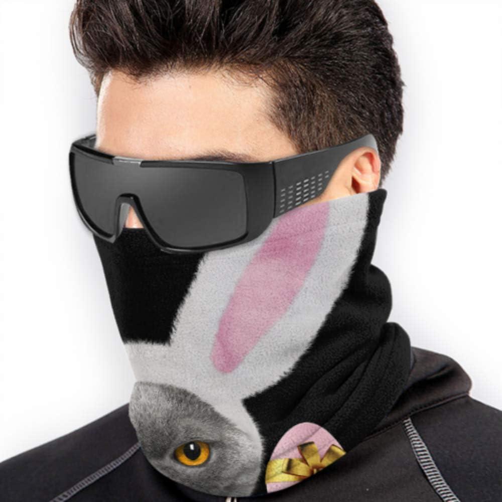 Pretty Cat Rabbit Ears Huevo de Pascua Protección solar Máscara facial completa Mascarilla juvenil Bandana Girl Headwear Multifunción para invierno Clima frío Mantener el calor para hombres Mujeres