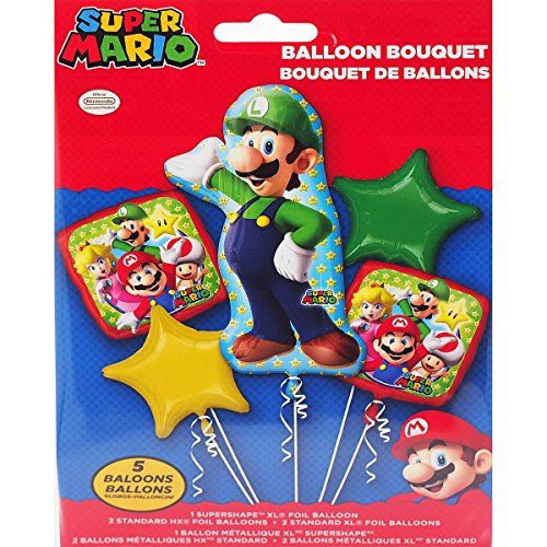Mario Bros. Luigi Bouquet Of Balloons, 5 balloons, Super Mario for $<!--$8.40-->