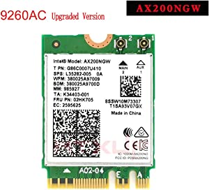 MQUPIN Intel Dual Band Wireless AX200NGW 2.4Gbps 802.11ax Wireless Intel AX200 WiFi Card Bluetooth 5.0 for Windows 10, 64-bit, Google Chrome OS, Linux