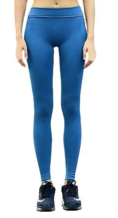Pantalon Yoga Mujer Elásticos Skinny Niñas Ropa Color Sólido ...