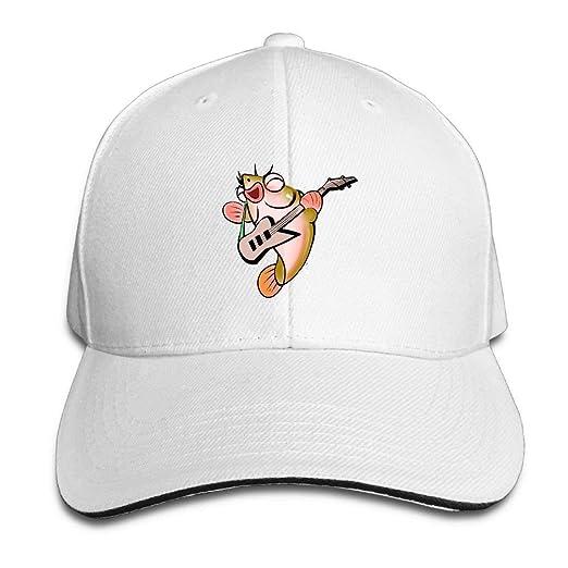 9c4d73a5687 Amazon.com  Ciuaole Guitar Fish Cap Unisex Low Profile Baseball Hat ...