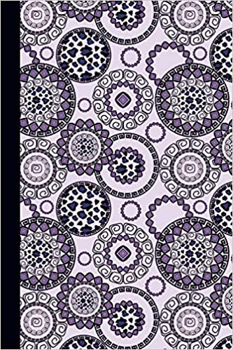 journal flower mandala purple 6x9 dot journal journal with dot grid paper dotted pages with light grey dots