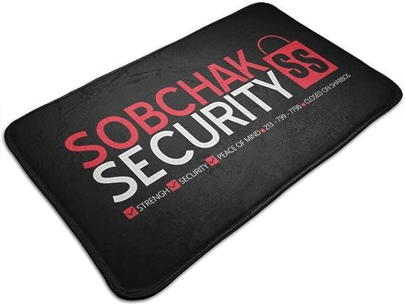 RTRTRT Alfombra The Big Lebowski Sobchak Security Logo Door Mat Entrance Non-Slip Bath Mat Kitchen Floor Carpet Mat 19.5 X 31.5 Inch Absorbent Area Rugs