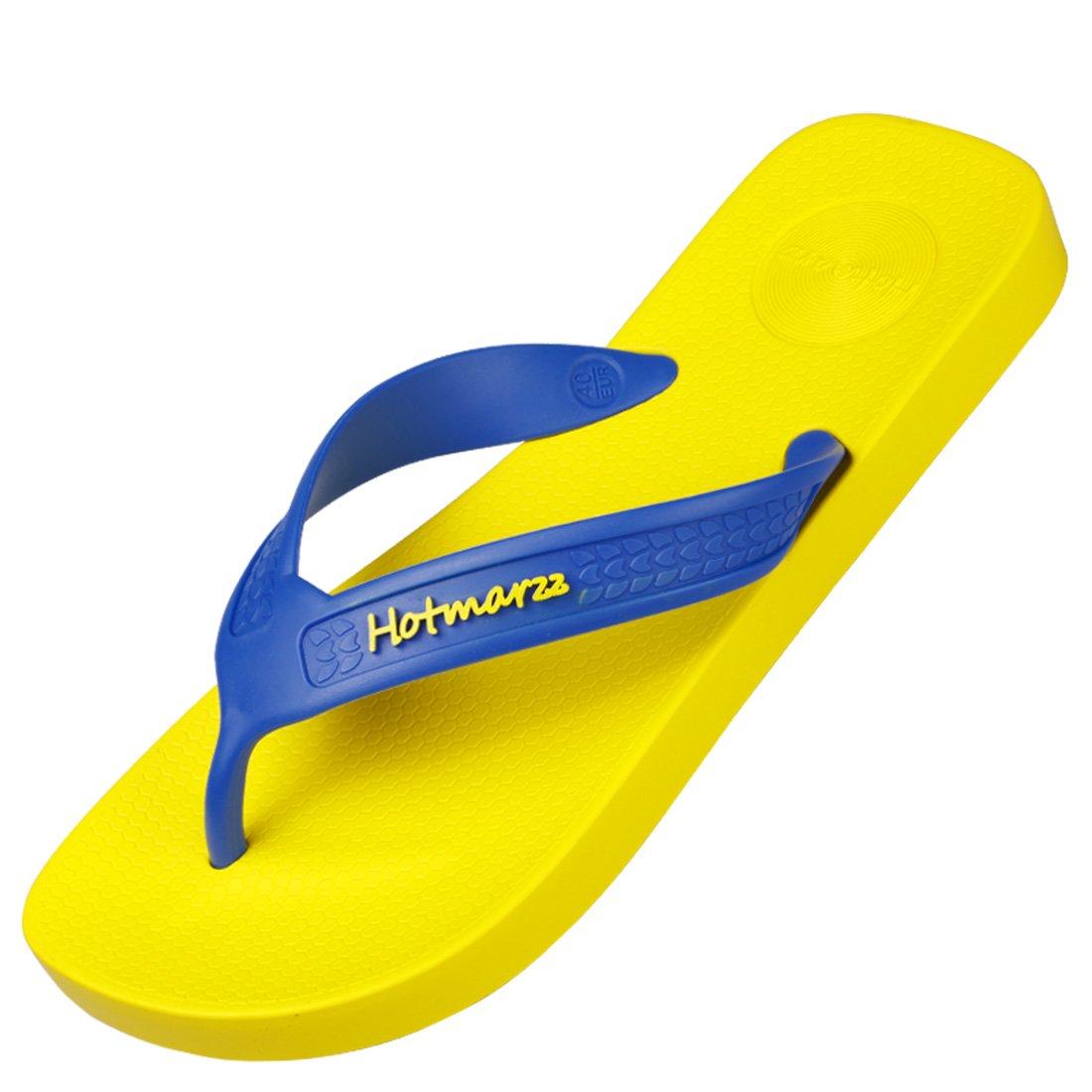 4d64a95b2837 Hotmarzz Men s Premier Flip Flops Wide Strap Beach Slippers Summer Sandals  White  Amazon.ca  Shoes   Handbags