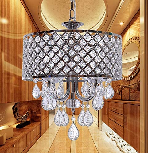 Mini Crystal Chandeliers Hanging Pendant Home Lighting