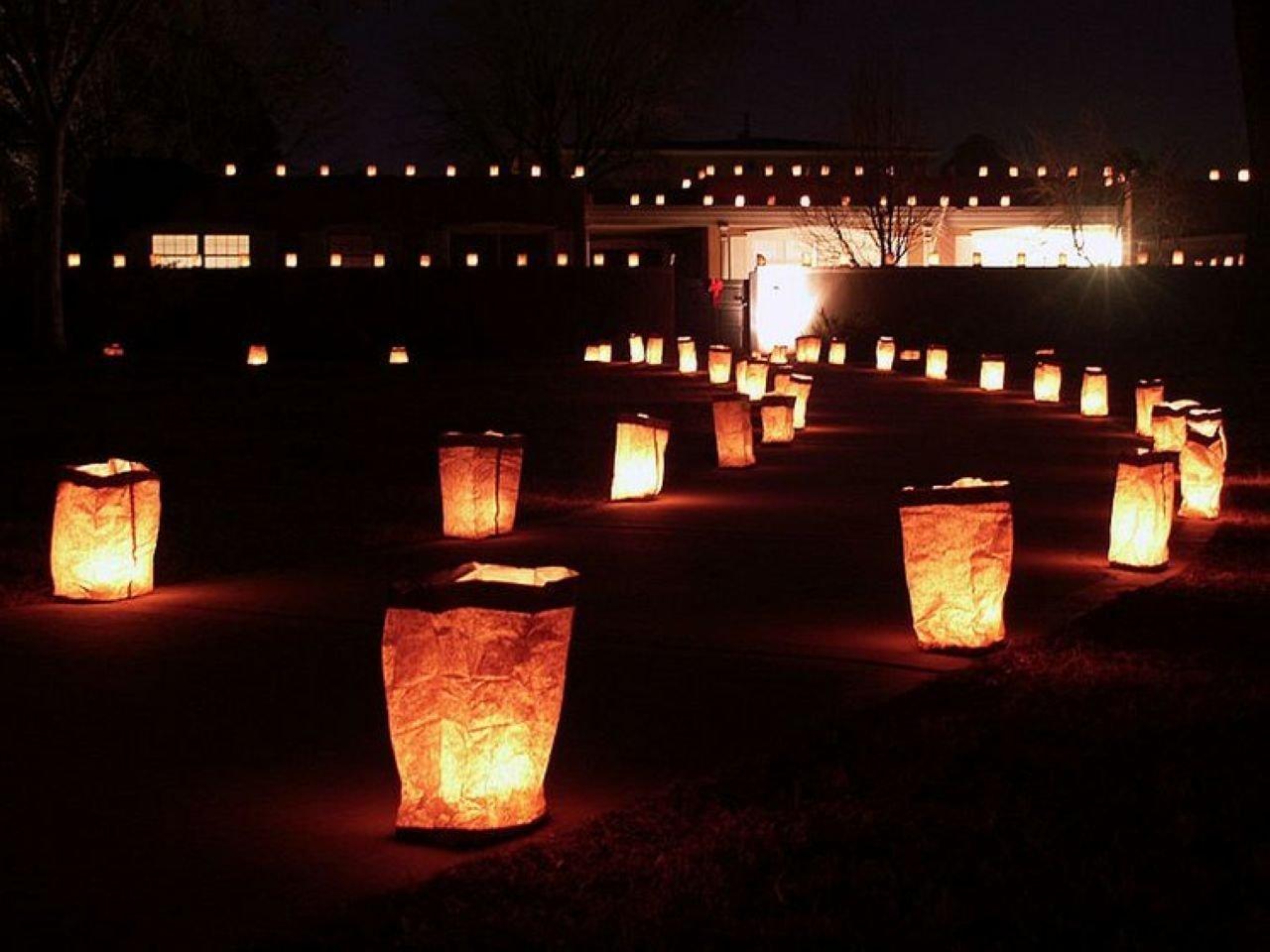 Fascola 20 x Pure White Luminaria Paper Lantern Candle Bag For Xmas BBQ Party Wedding