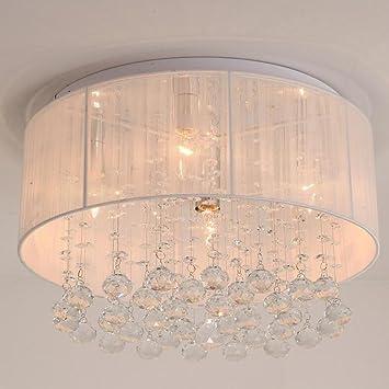 Moderne Einfache Tuch Kreative Kristall Anhanger Decke Lampe