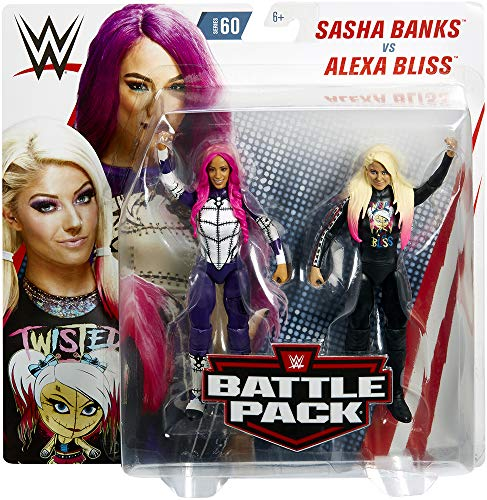 Ringside Alexa Bliss & Sasha Banks - WWE Battle Packs 60 Mattel Toy Wrestling Action Figure 2-Pack