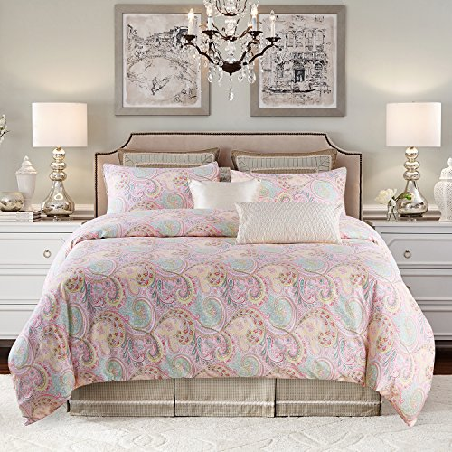 Jieshiling Flower type 3 Piece Duvet Cover and Pillow Shams Bedding Set, 100% Cotton (Queen, Pink)