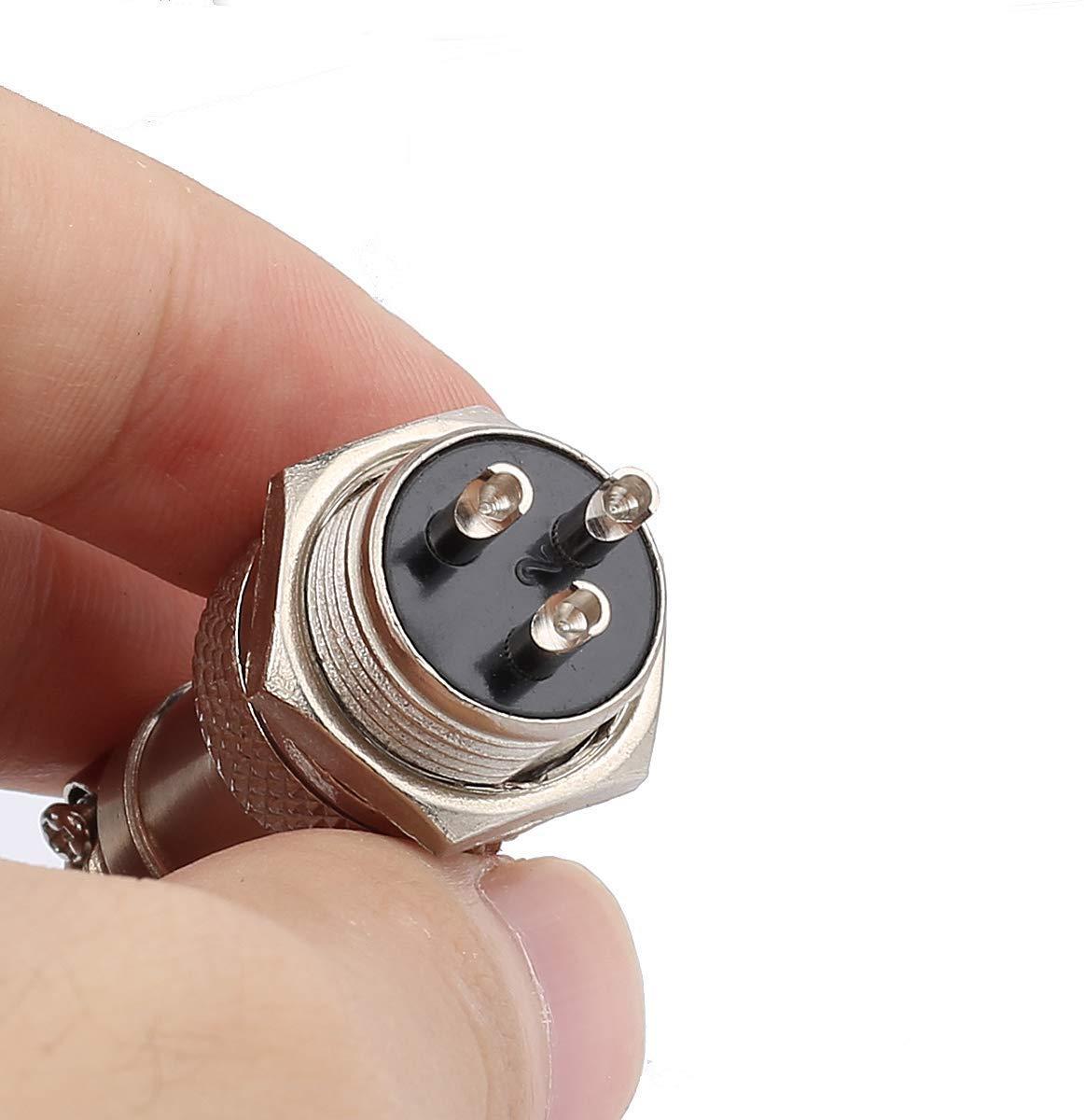 10 St/ücke Clyxgs GX16 4 Pins Panel Metallmontage Rund Metall Aviation Stecker Adapter M/ännlich Weiblich Steckdose