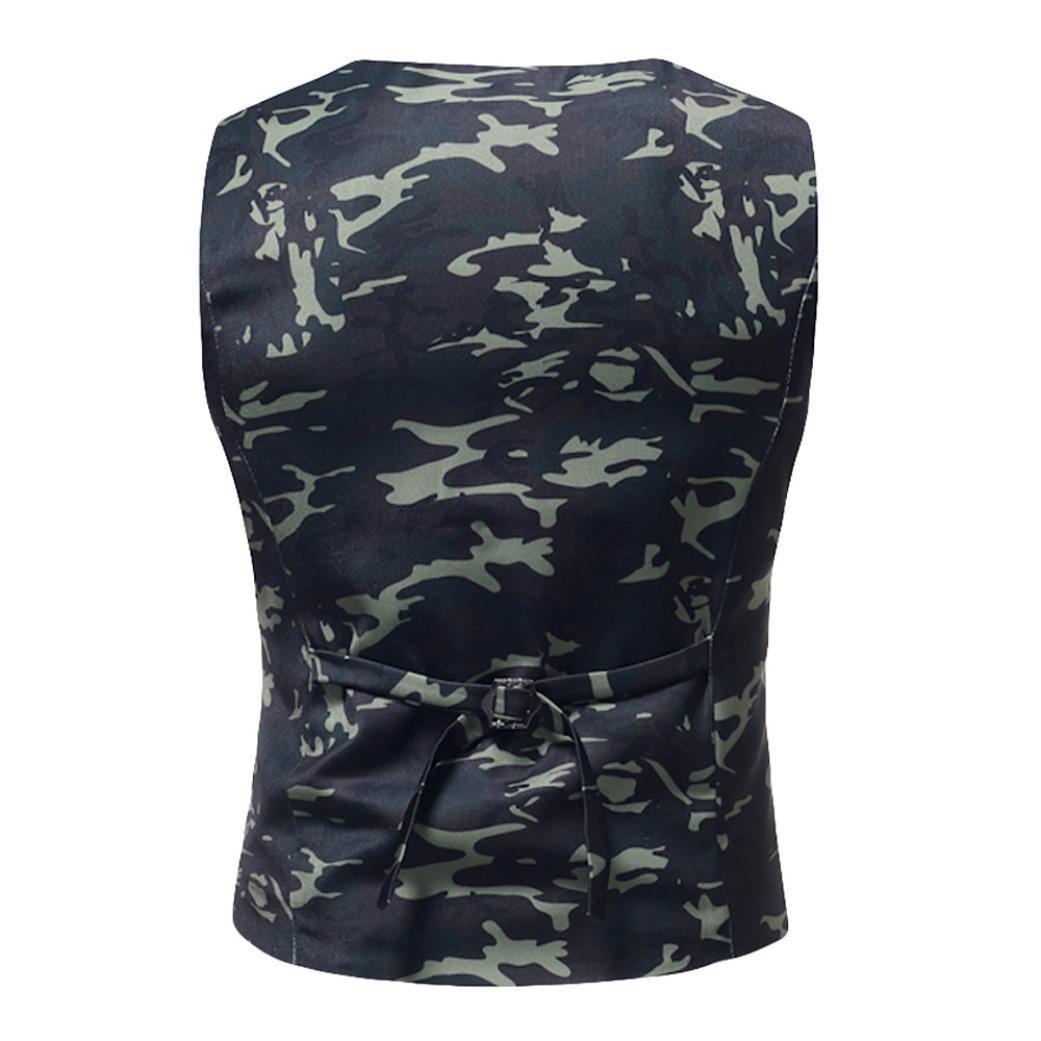 Resplend Hombres Que Imprimen la Blusa sin Mangas Impresa Ocasional de la Chaqueta de la Blusa británica del Chaleco del Juego: Amazon.es: Ropa y accesorios