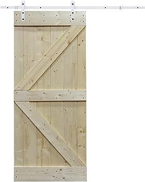 6.6 ft blanco puerta deslizante Hardware de puerta corredera ...