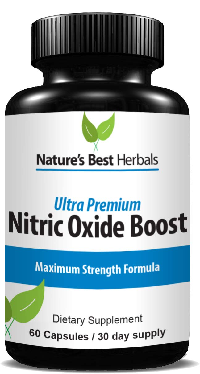 Ultra Premium Nitric Oxide Boost Loaded with L-ARGININE, L-CITRULLINE, BETA Alanine Improve Circulation, Muscle Recovery, Strength Workout Harder for Better Results 60 Capsules