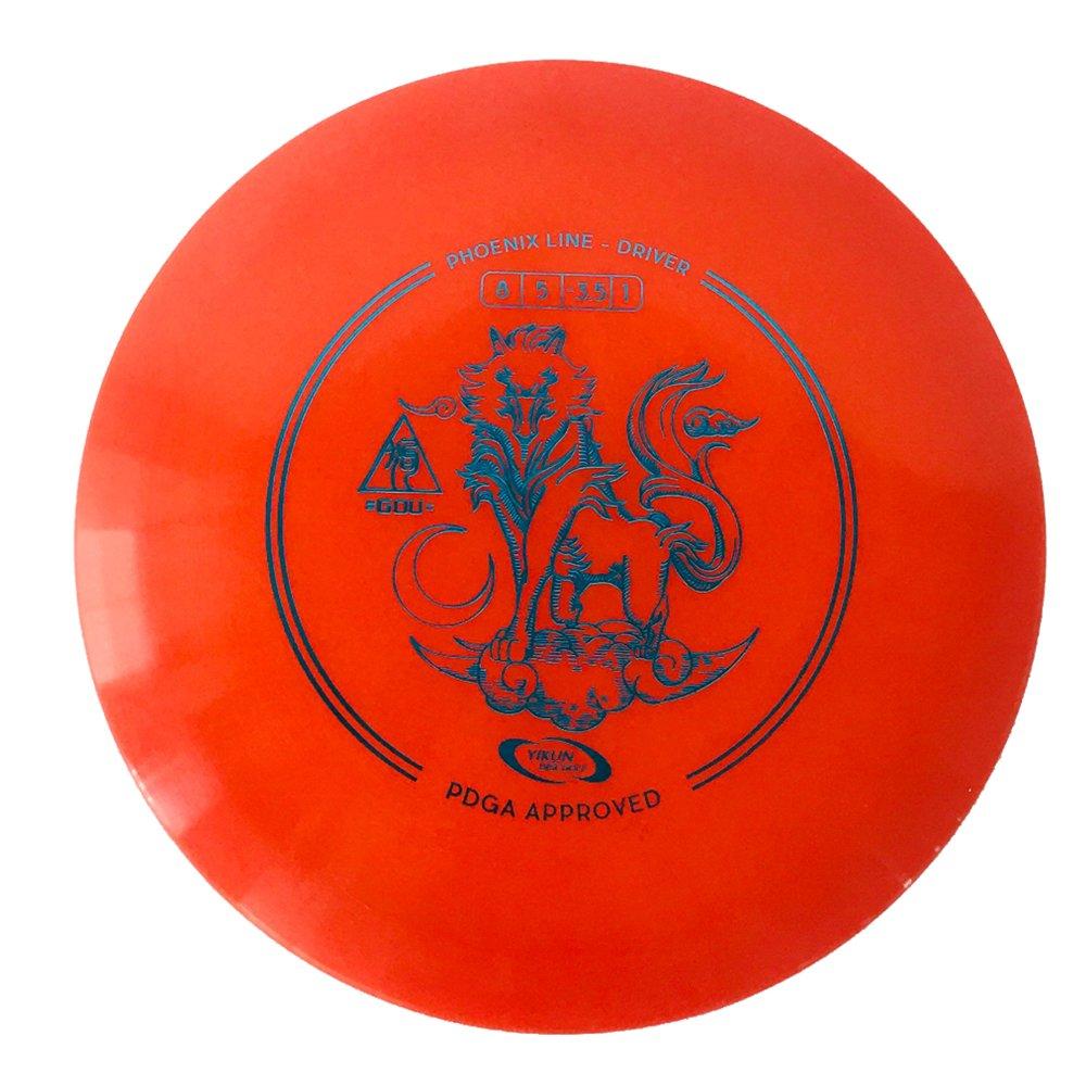 "Yikun Discs PDGA Approval Professional Golf ""Driver"" Phoenix Line GOU Red"