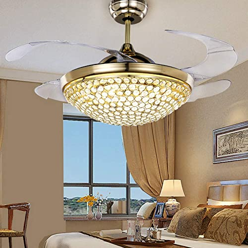 Lighting Groups 42″ Retractable Crystal Ceiling Fan