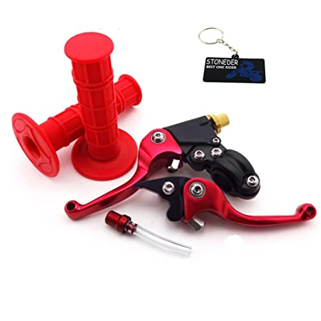 STONEDER Pinzas de Embrague de Freno Rojo para Bicicleta de Cross, empuñaduras de Mano ForSSR