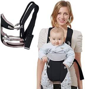 Canguru Carrega Bebê Ergonômico Passeio Importway 3 em 1 Posições Baby Até 15 Kg Preto