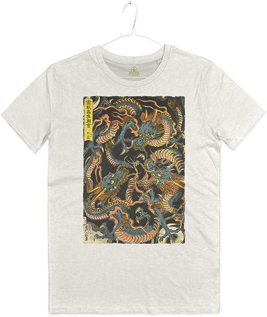 INSIDETSHIRT - Camiseta con impresión de dragones japoneses, artes marciales y dragones japoneses: Amazon.es: Ropa y accesorios