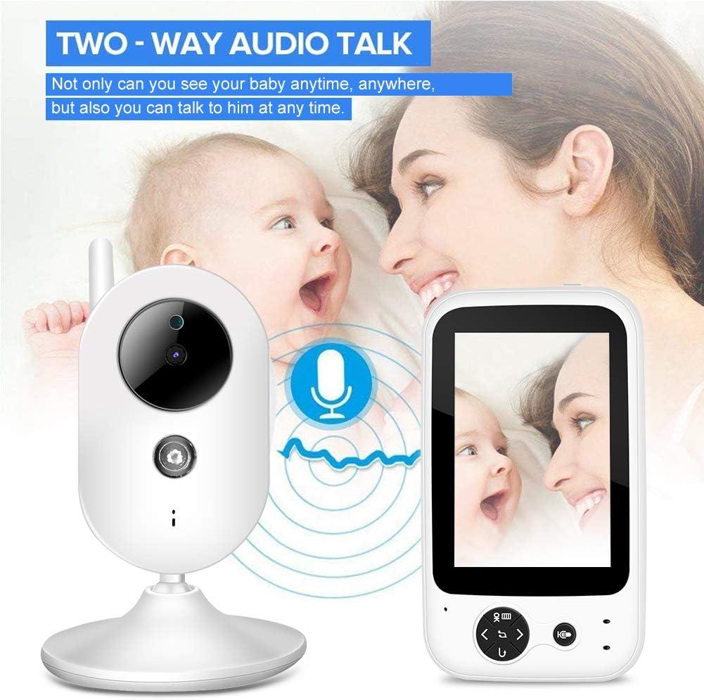 1 Baby Kamera Monitor 3,5  Digital Video Babyphone /Überwachungskamera Nachtsicht Temperatursensor Intercom Zwei Wege Konversation Mehrsprachig