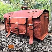 """Leather Native - Nuevo Bolso grande de Cuero estilo Vintage 24"""" Equipaje de viaje - Bolso para gimnasio - Gran regalo para hombres y mujeres ¡Oferta de verano!"""