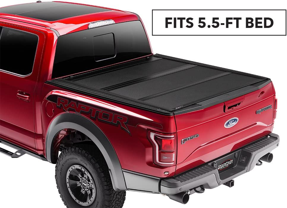 "Undercover ArmorFlex Hard Folding Truck Bed Tonneau Cover | AX12018 | Fits 14-18, 19 Ltd/Legacy Chevrolet Silverado/GMC SierraLegacy/Limited(Only 1500,2500,3500) 5'8"" Bed"