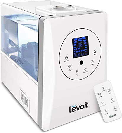 Levoit Humidifiers, 6L Warm and Cool Mist Ultrasonic Humidifier for Bedroom Babies with Remote and Humidity Monitor, Vaporizer for Large Room, Home,