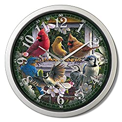 Reflective Art 15 'Springtime Melody Classic Clock