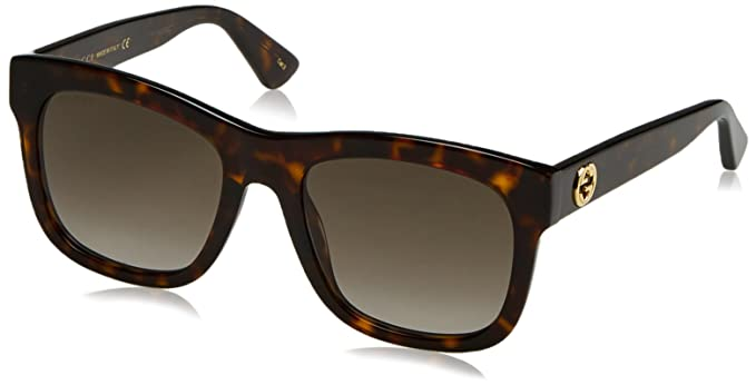45f85228b07 Image Unavailable. Image not available for. Color  Gucci GG0032S Sunglasses  002 Havana Brown 54 mm