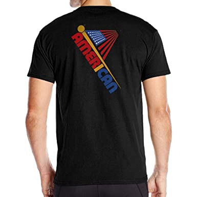 c8cbbefef2 Amazon.com: Roing Bo American Flag Day 5 Back Print Short-Sleeve Cotton T  Shirt Humorous for Mens: Clothing