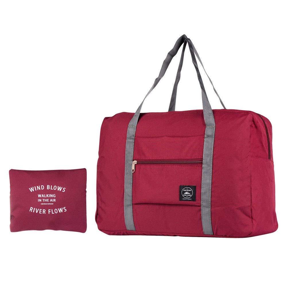 EEEKit Travel Duffel Bag para Mujeres y Hombres, Bolsa de Viaje Ligera y Resistente al Agua para Deportes, Gimnasio, Vacaciones, Large Duffel Bag Guarda Equipaje, Red
