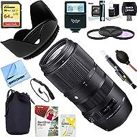Sigma 100-400mm F5-6.3 DG OS HSM Contemporary Full Frame Telephoto Lens Nikon (729-955) + 64GB Ultimate Filter & Flash Photography Bundle