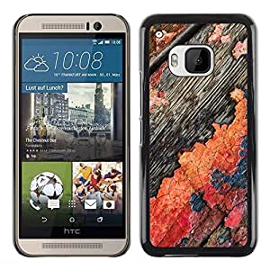 Be Good Phone Accessory // Dura Cáscara cubierta Protectora Caso Carcasa Funda de Protección para HTC One M9 // Flaky Paint Wood Old Rustic Threadbare