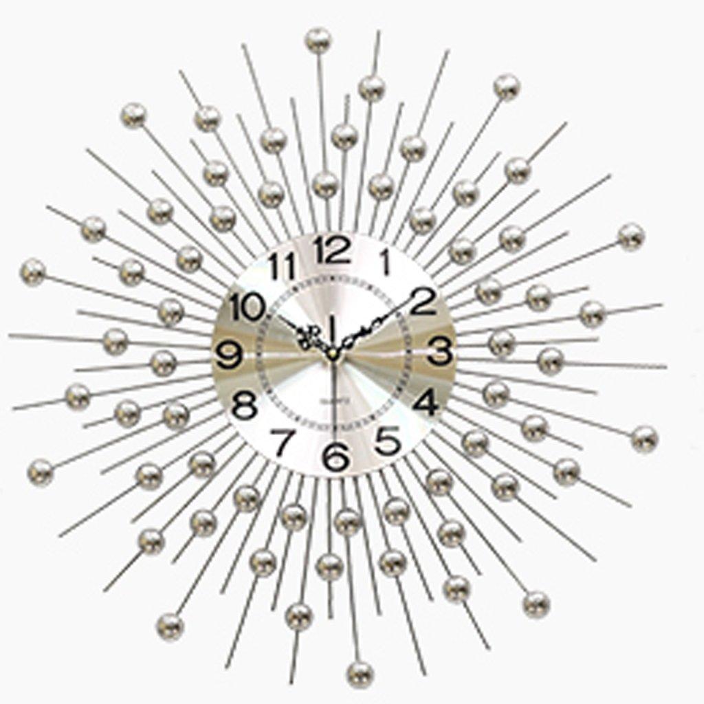 ウォールクロック リビングルームの壁時計ヨーロッパの家の装飾の壁のミュートの腕時計の寝室クリエイティブアート単純な人格の時計 (色 : シルバー しるば゜, サイズ さいず : 小さな ちいさな) B07D7SGBV6 小さな ちいさな|シルバー しるば゜ シルバー しるば゜ 小さな ちいさな