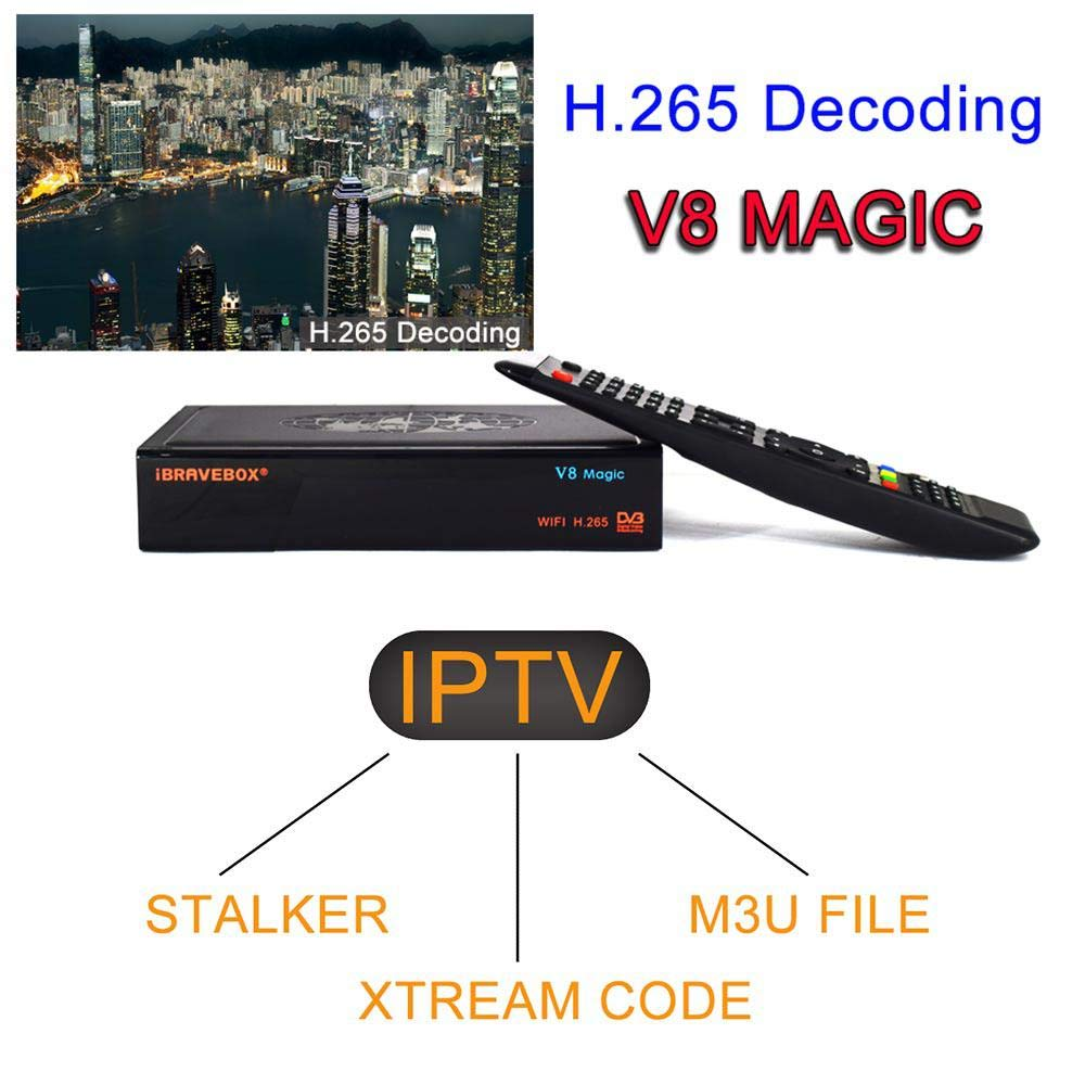Tenlso 2019 New Satellite Receiver IBRAVEBOX V8 Magic DVB-S2 IPTV Xtream Stalker H.265 Built-in WiFi Receptor 1 Year Europe Cline V9 Super Support IPTV by Tenlso (Image #6)