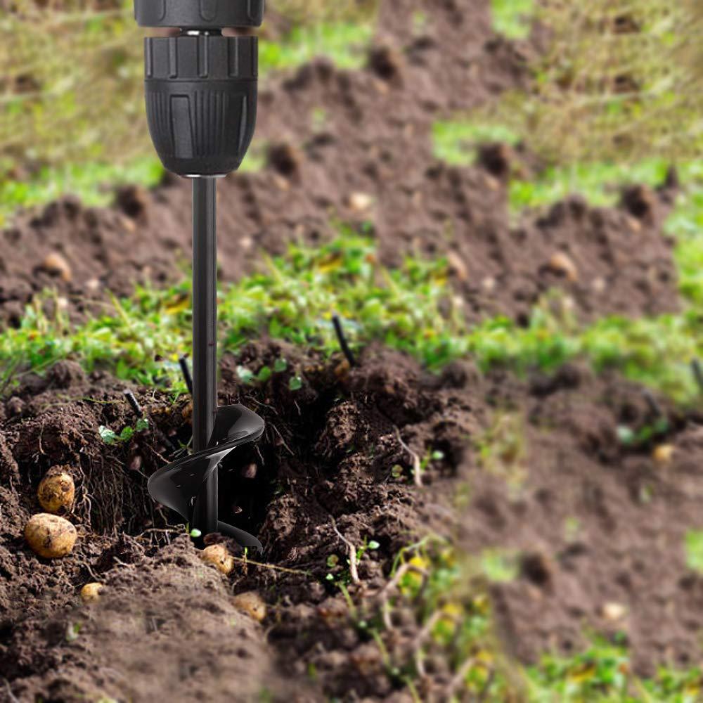 Jajadeal Jard/ín Excavadora de Taladro Broca en Espiral para Jard/ín Cultivador de Suelo Broca para Flor Plantando /árboles Arbustos Bulbos De Cama Pl/ántulas 4x22cm