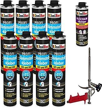 Pegamento 8 Azucarero de 750 ml Espuma adhesivas Perimeter Juego WDVS pegamento para aislamiento + 1 limpiador + 1 pistola de espuma: Amazon.es: Bricolaje y ...