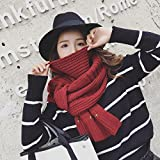 MDRW-Winter Scarf Pure Wool Scarf Knitted Scarf Winter Female Lovers Students Long Thick Warm Dual-Purpose Scarf Shawl