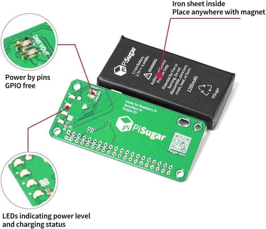 Pisugar Portable 900 Mah 1200 Mah Lithium Battery Power Module For Raspberry Pi Zero Pi Zero W Wh Model Accessories Not Include Raspberry Pi 1200 Mah Home Audio Theater