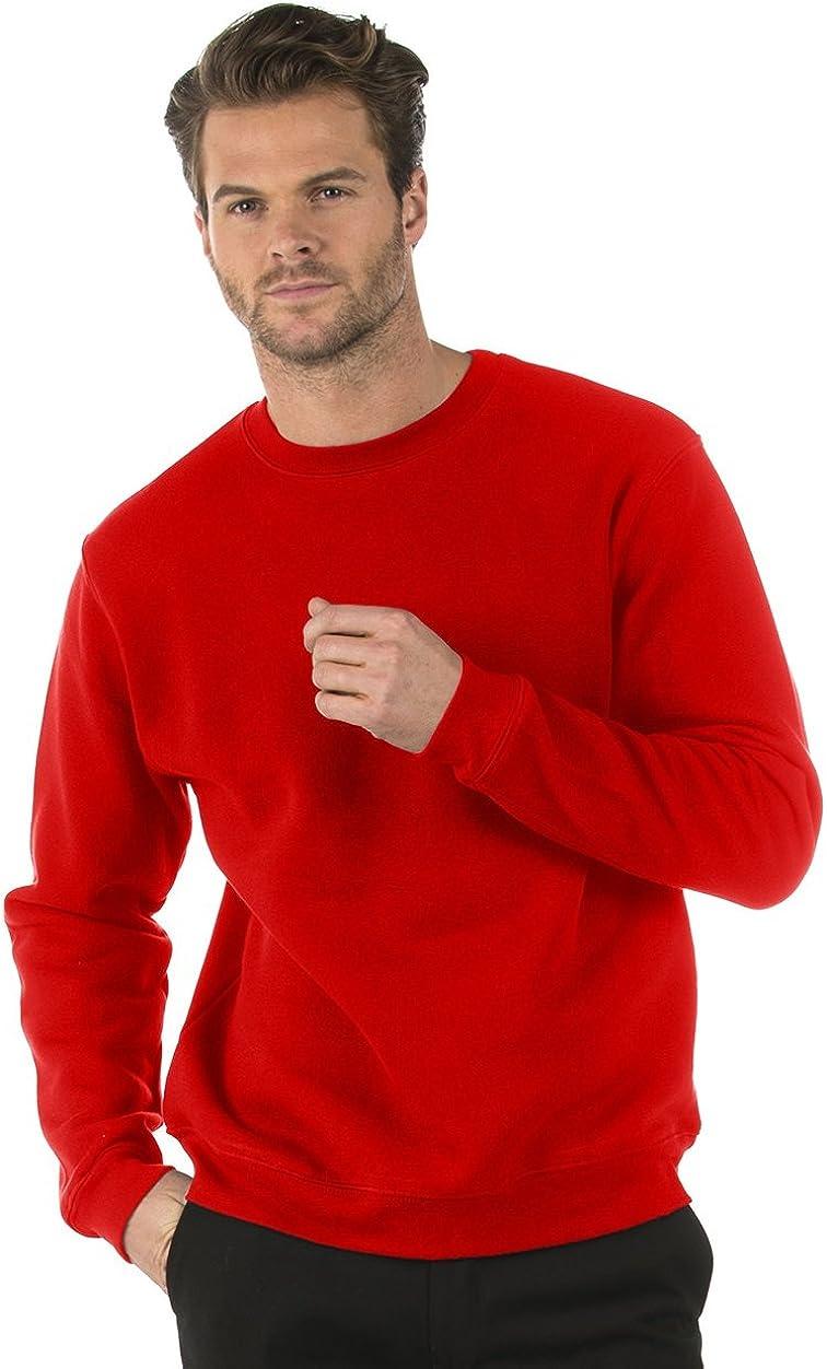 Bruntwood Classic Crew Neck Sweatshirt 280GSM Mens /& Ladies Cotton//Polyester