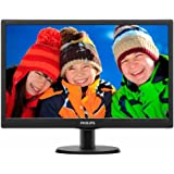 """Philips 193V5LSB2 Monitor 18.5"""" LED, 5 ms, VGA, Attacco VESA, Nero"""