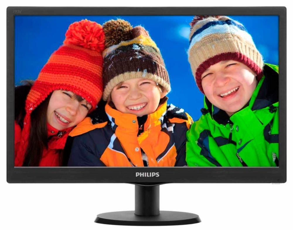 """Philips Monitores 223V5LSB2/10 - Monitor de 21.5"""" (resolución 1920 x 1080 pixels, tecnología WLED, contraste 600:1, 5 ms, VGA), color negro"""