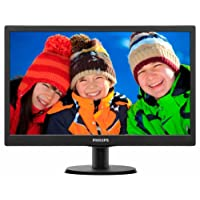 "Philips 193V5LSB2/10 - Monitor con tecnología LED de 18.5"", color negro"