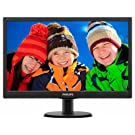 Philips 193V5LSB2 18.5 inch V-Line LED Display Monitor (1366 x 768 p, DDR3 SDRAM, 8.76 W) - Black