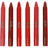 ADS Crayon Lipsticks, All Different Red, Pink, Brown Shades S1 (Set of 6)