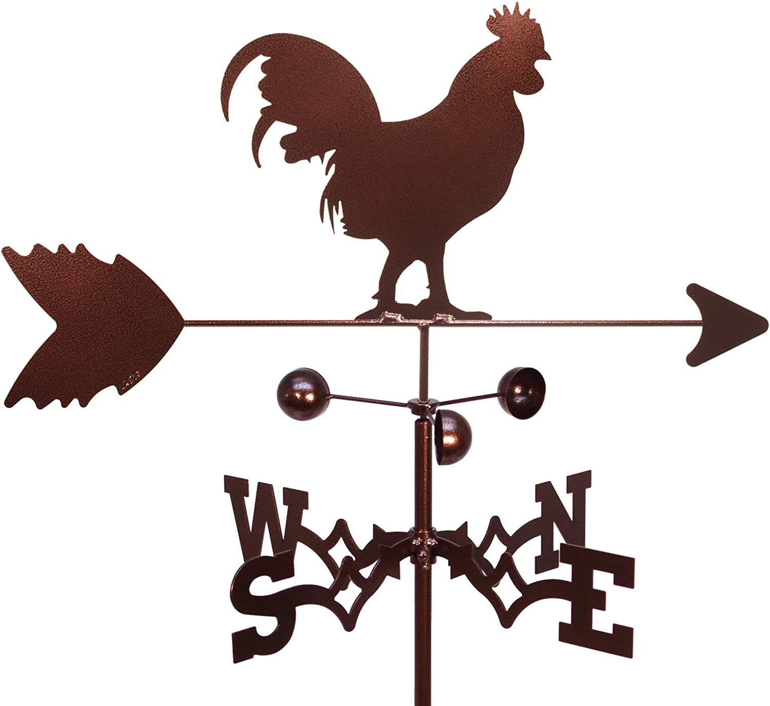 SWEN Products Rooster Chicken Weathervane (Roof Mount Included)